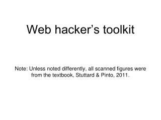 Tools used by web hackers