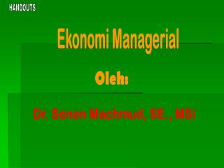 Ekonomi Managerial