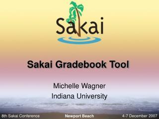Sakai Gradebook Tool