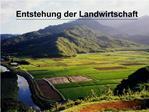 Entstehung der Landwirtschaft