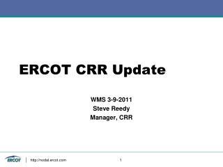 ERCOT CRR Update