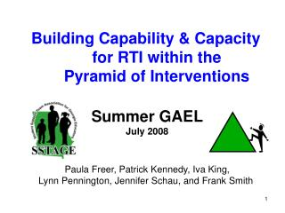Building Capability  Capacity  for RTI within the  Pyramid of Interventions