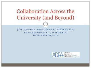Collaboration Across the University (and Beyond)