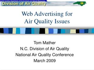 Web Advertising for  Air Quality Issues