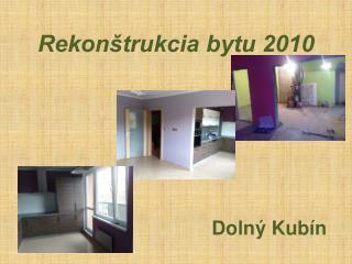 Rekon�trukcia bytu 2010