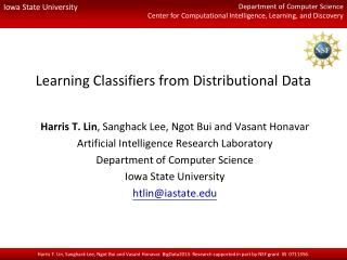 Learning Classifiers from Distributional Data