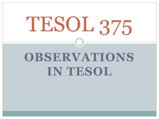 TESOL 375