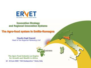 Innovation Strategy  and Regional Innovation Systems The Agro-food system in Emilia-Romagna