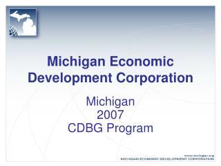 Michigan Economic Development Corporation