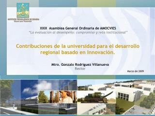 Contribuciones de la universidad para el desarrollo regional basado en Innovación.
