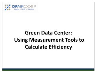Green Data Center - DP Air