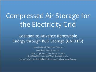 Compressed Air Storage for the Electricity Grid