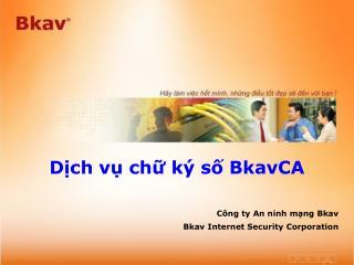 Dịch vụ chữ ký số BkavCA