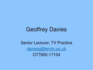 Geoffrey Davies