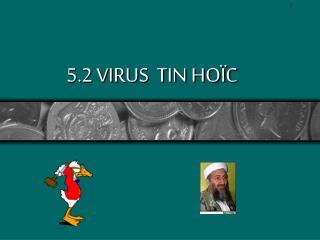 5.2 VIRUS  TIN HOÏC