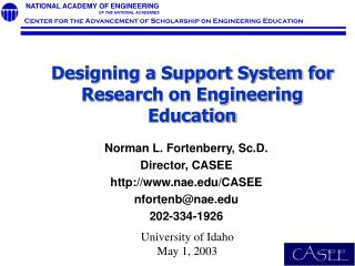 Designing a Support System for Research on Engineering Education