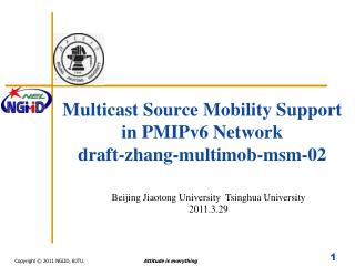 Multicast Source Mobility Support  in PMIPv6 Network draft-zhang-multimob-msm-02