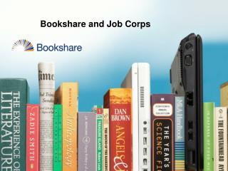 Bookshare and Job Corps