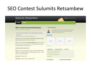 SEO Contest Sulumits Retsambew