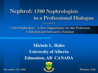 Nephrol: 1500 Nephrologists       in a Professional Dialogue