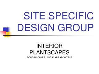 SITE SPECIFIC DESIGN GROUP