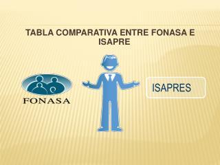 TABLA COMPARATIVA ENTRE FONASA E ISAPRE