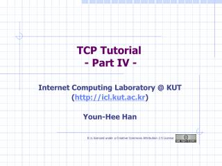 TCP Tutorial  - Part IV -