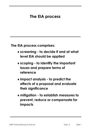 The EIA process