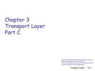 Chapter 3 Transport Layer Part C