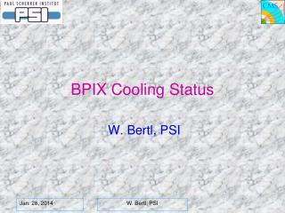 BPIX  Cooling Status