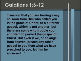 Galatians 1:6-12