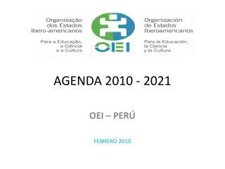 AGENDA 2010 - 2021