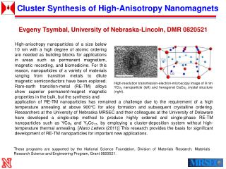 Cluster Synthesis of High-Anisotropy Nanomagnets