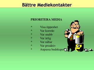 Bättre Mediekontakter