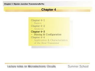 Chapter 4  Bipolar Junction Transistors(BJTs)