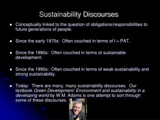 Sustainability Discourses