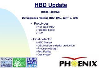 HBD Update