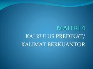 MATERI 4