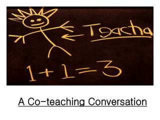 A Co-teaching Conversation