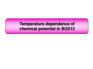 Temperature dependence of  chemical potential in Bi2212