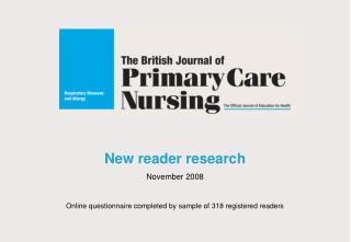 New reader research November 2008