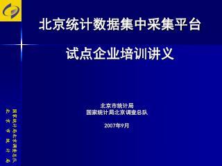 北京统计数据集中采集平台 试点企业培训讲义