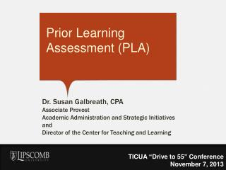 Prior Learning Assessment (PLA)