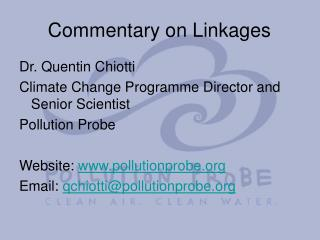 Commentary on Linkages