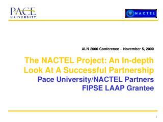 ALN 2000 Conference – November 5, 2000
