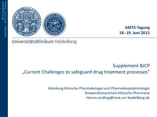 AMTS-Tagung  18.-19. Juni 2012