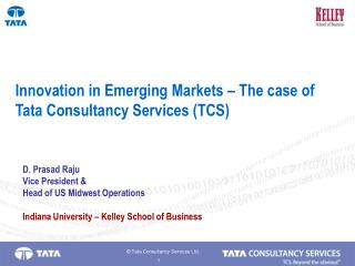 Innovation in Emerging Markets   The case of Tata Consultancy Services TCS