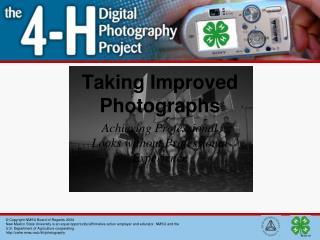 Taking Improved Photographs
