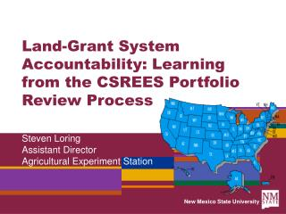 Land-Grant System Accountability: Learning from the CSREES Portfolio Review Process