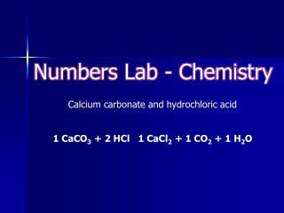 Numbers Lab - Chemistry